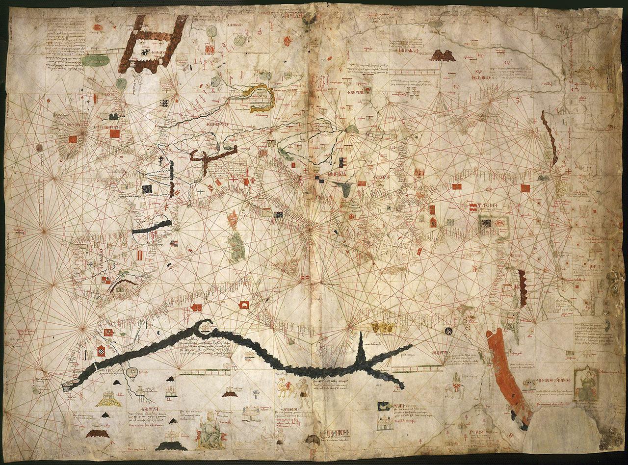 Карта-портулан Анжелино Дульсерта. 1339 год